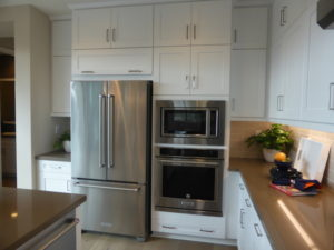 ... Models An Upgraded KitchenAid Appliance Package With A 36u201d Gas Cooktop  With Six Burners, 36u201d Hood, 30u201d Built In Convection Oven, Microwave And Trim  Kit, ...