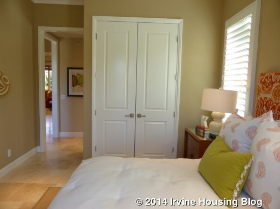 French Closet Doors For Bedrooms. The Adjacent Bathroom Features Numerous  Upgrades The Single Sink Vanity