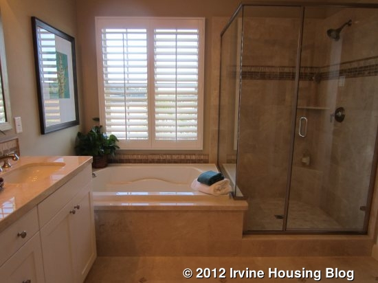 The Bathroom Features Side By Side Sinks A Tub And A Good Size Shower The Walk In Closet Is A Little Bigger Than In The Other Models