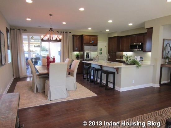 A review of the roundtree tract at the great park irvine for U shaped dining room