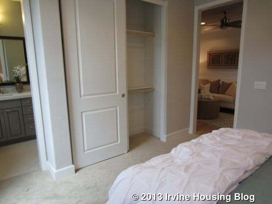 Small walk through closet furniture and decor for Closet bathroom suites